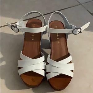 Madden Girl wood heel sandals